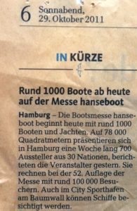 hanseboot Pressemeldung aus 2011